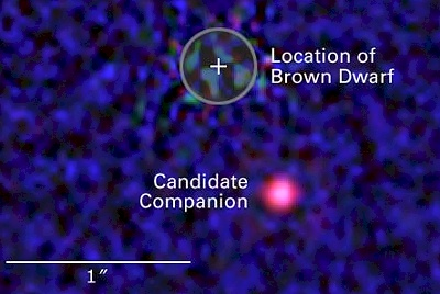 HST images brown dwarf companion