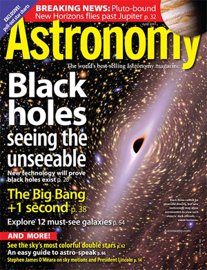 April 2007 Astronomy magazine examines the first second after the Big Bang
