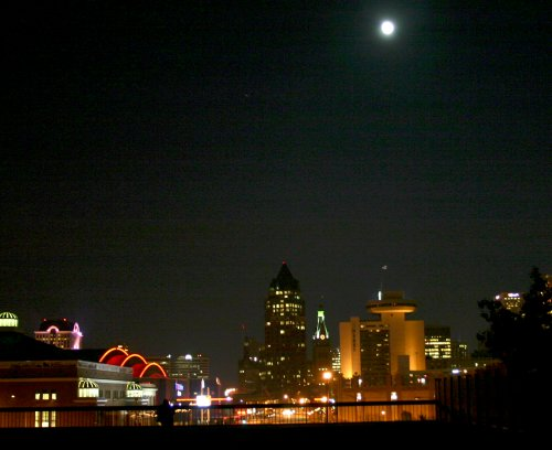 The Full Moon above Milwaukee