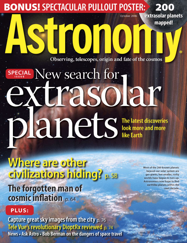 Astronomy October 2006 cover image