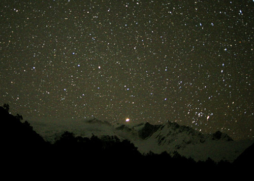 Mars above Rob Roy Glacier
