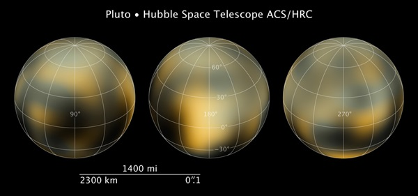 Hubble maps of Pluto
