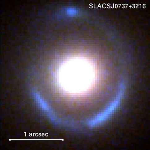 color composite image of the gravitational lens system