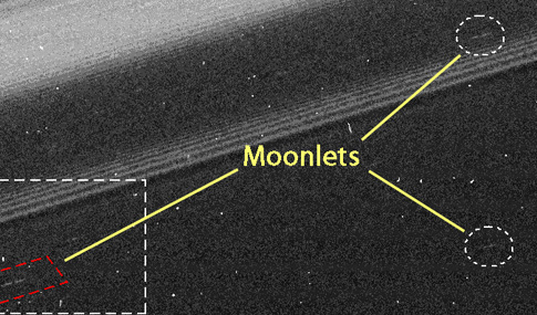 "moonlets in Saturn's outermost ""A"" ring"