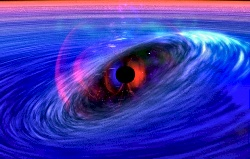 Black hole's space-time wave