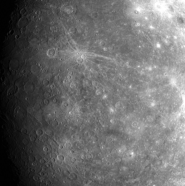 Mercury's younger side