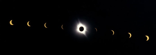 progression of an eclipse from partial to total