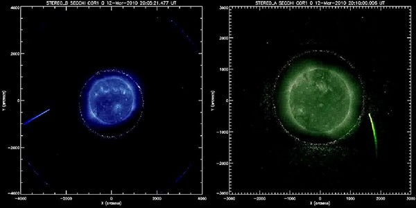 Comet diving into the Sun