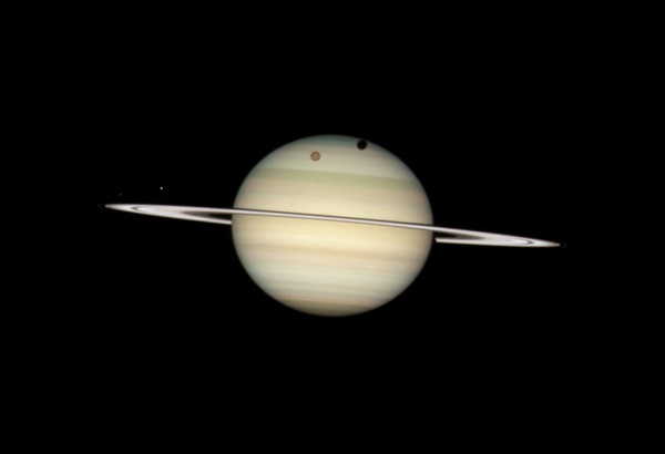 Saturn moon transit