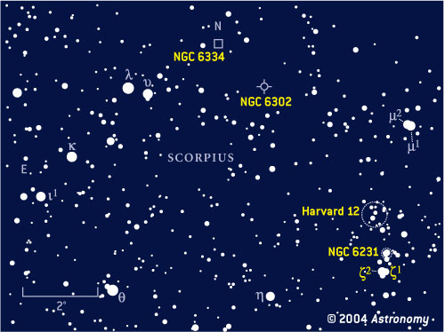 Finder chart for Scorpius objects