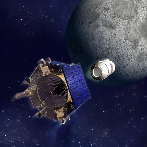 LCROSS spacecraft and Centaur separate