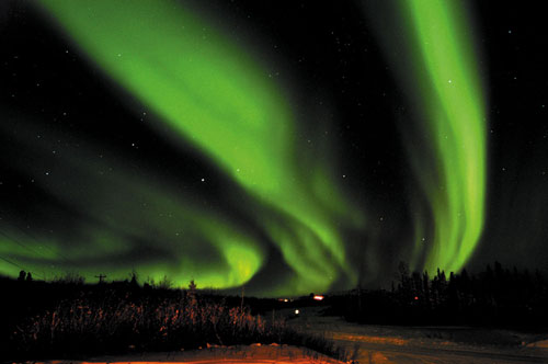 Dazzling northern lights in Alaska