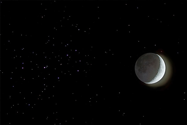 The Moon and the Pleiades