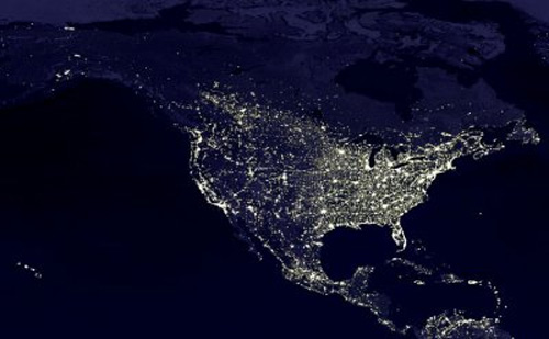 Light Pollution in North & Central America