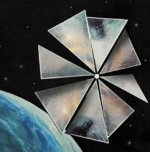 Solar sail in orbit
