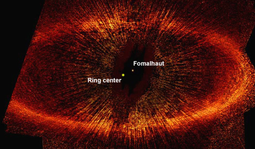Fomalhaut's off-center debris ring