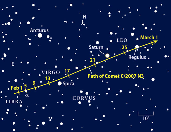 Comet Lulin finder chart