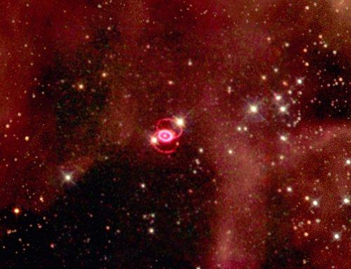 WFPC 2 mosaic of SN1987a remnant