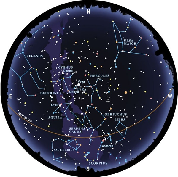 Interactive Star Map Northern Hemisphere.Learn The Constellations Astronomy Com