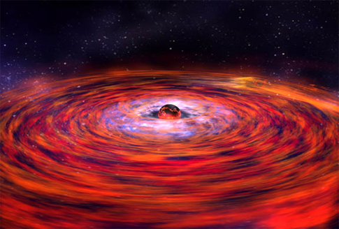 disk of hot gas whipping around a neutron star