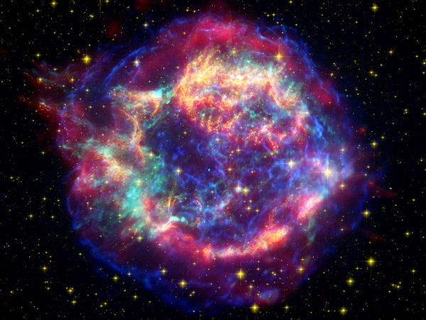 Great Observatories portrait of Cassiopeia A