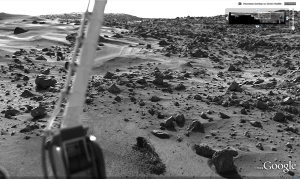 Viking panorama in Google Mars 3D