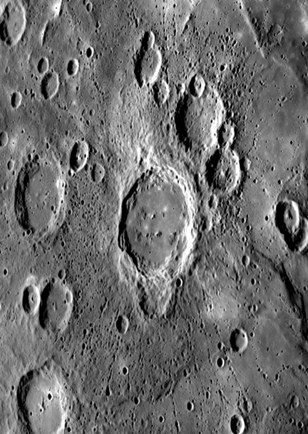 Mercury crater chains