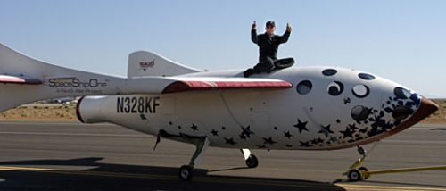 SpaceShipOne earns its name