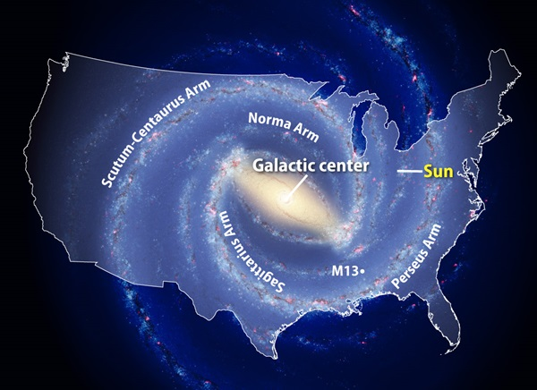 June 2010 Milky Way map