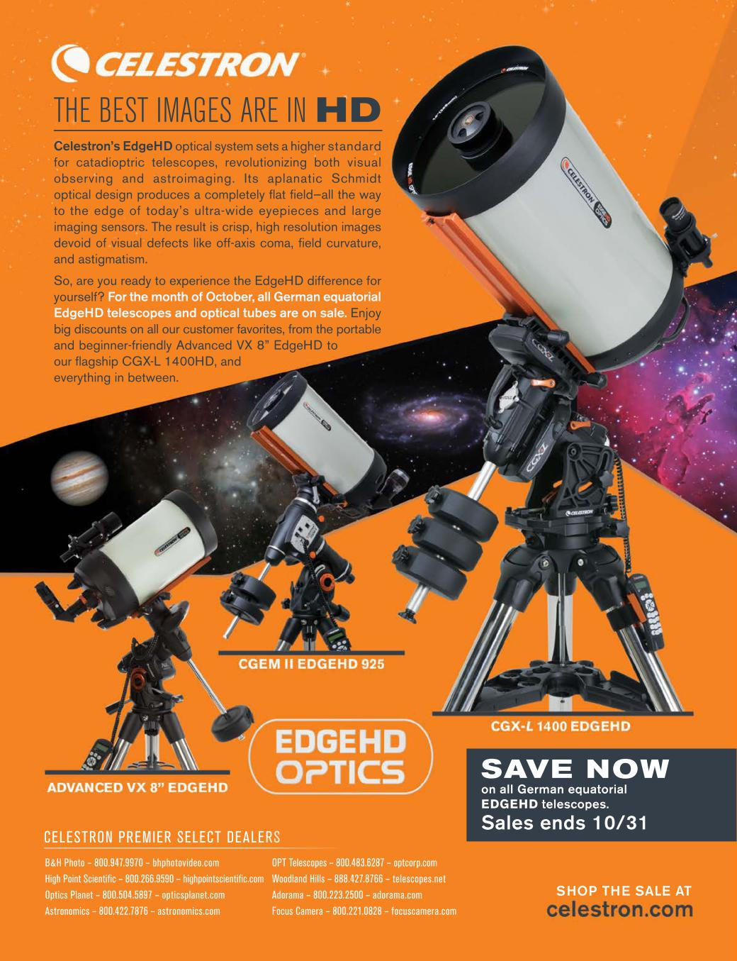 Astronomy Insights October 2018