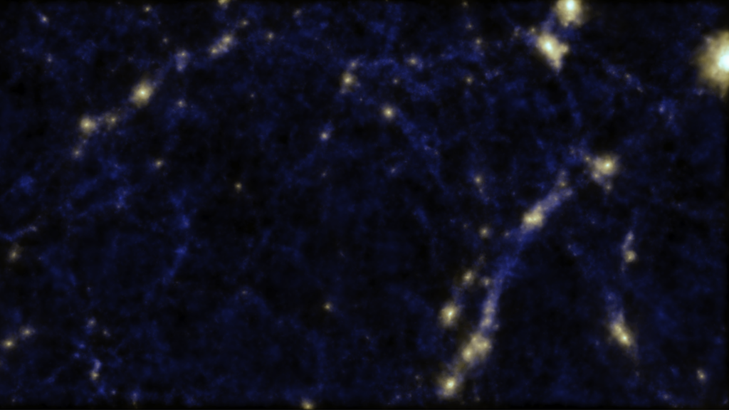 Astronomers find faint strings of galaxies inside empty space