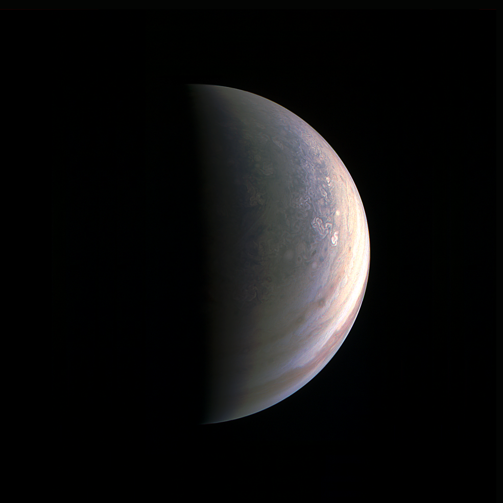 Juno gets the first-ever view of Jupiter's North Pole ...