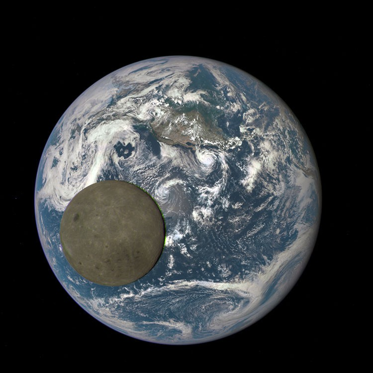 NASA captures the Moon crossing the face of the Earth, for the second time   Astronomy.com