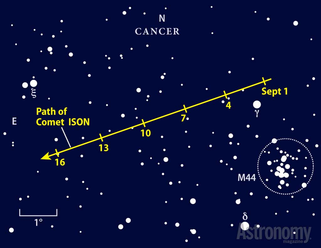 September provides your first peek at Comet ISON