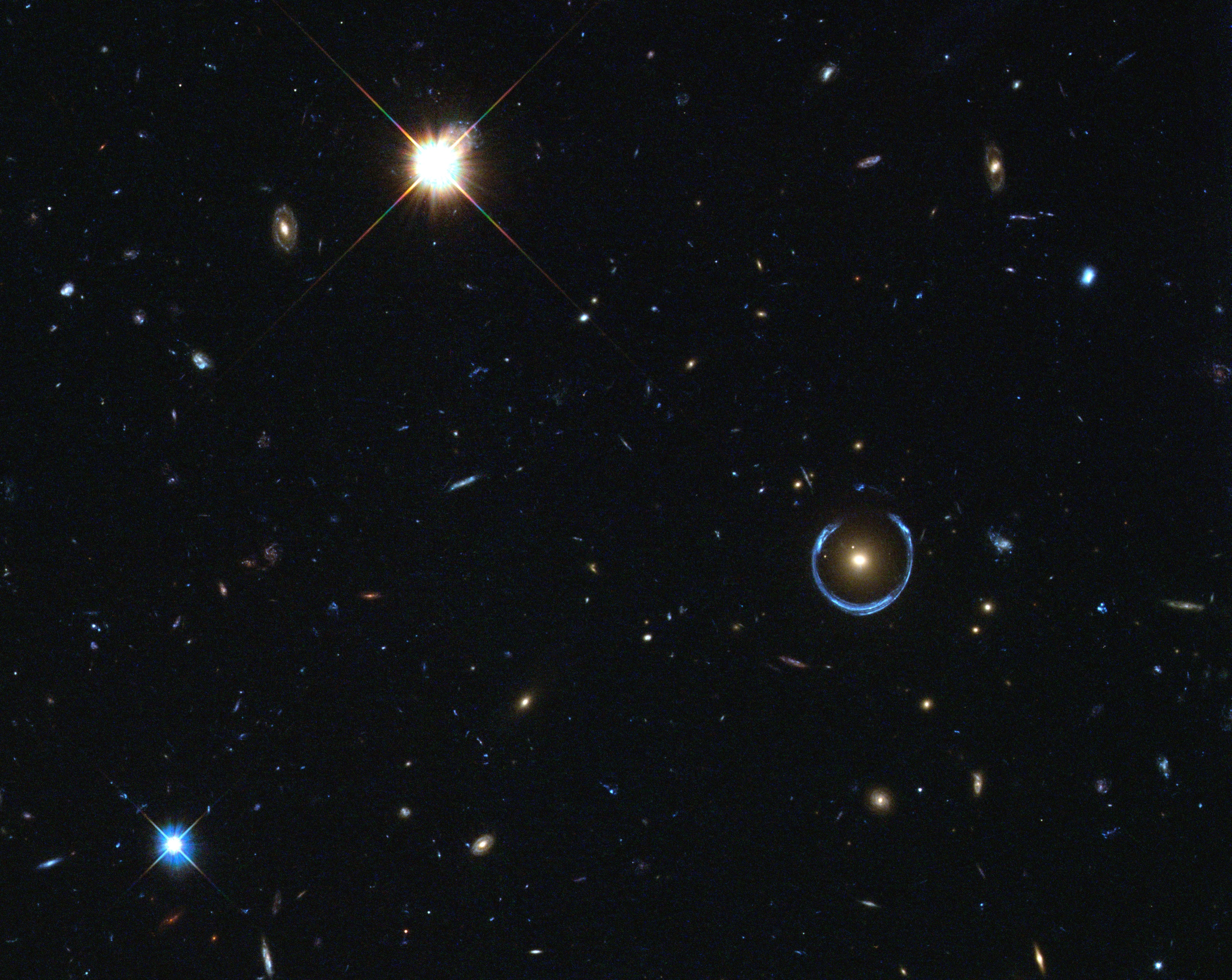 Why doesn't dark matter obscure light?