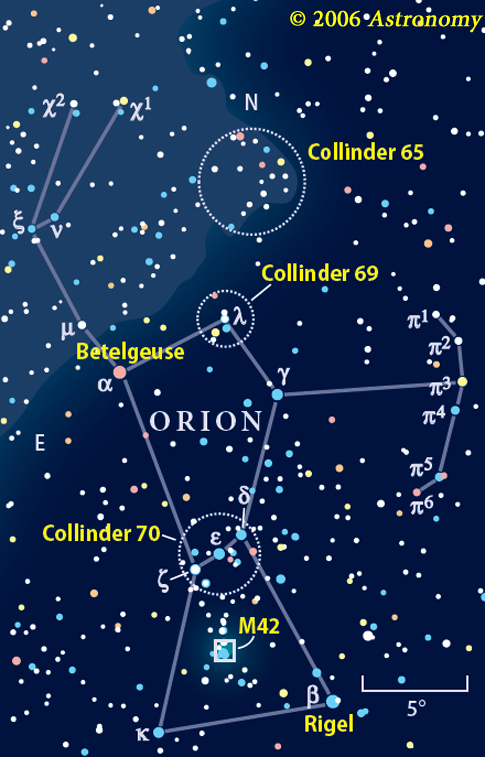 Holiday Nightsky Targets Astronomycom - Orion star map