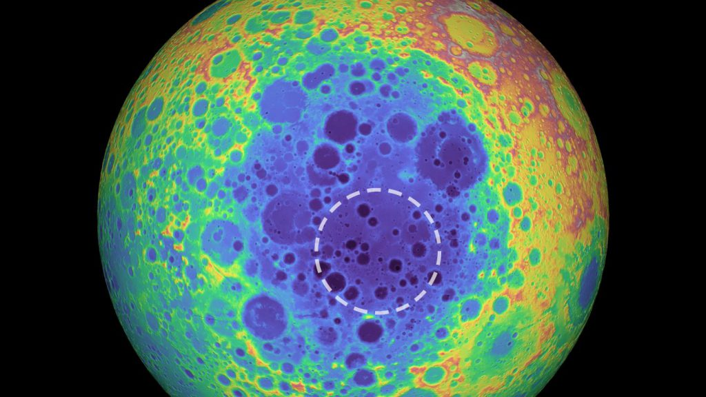There's an enormous, mysterious mass under the Moon's largest crater