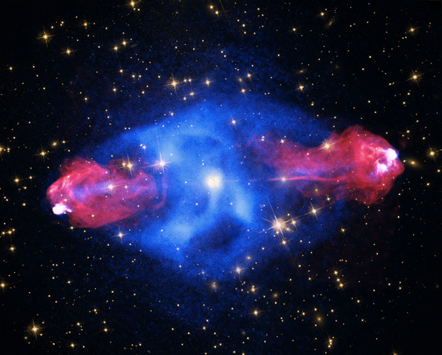 This supermassive black hole sends jets ricocheting through its galaxy