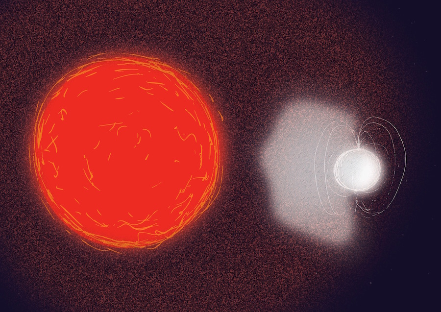 Image result for Red giant brings its companion star back to life