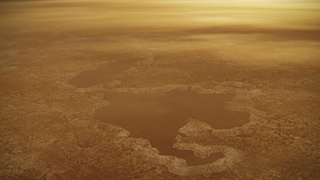 Explosions may have formed lakes on Saturn's moon Titan
