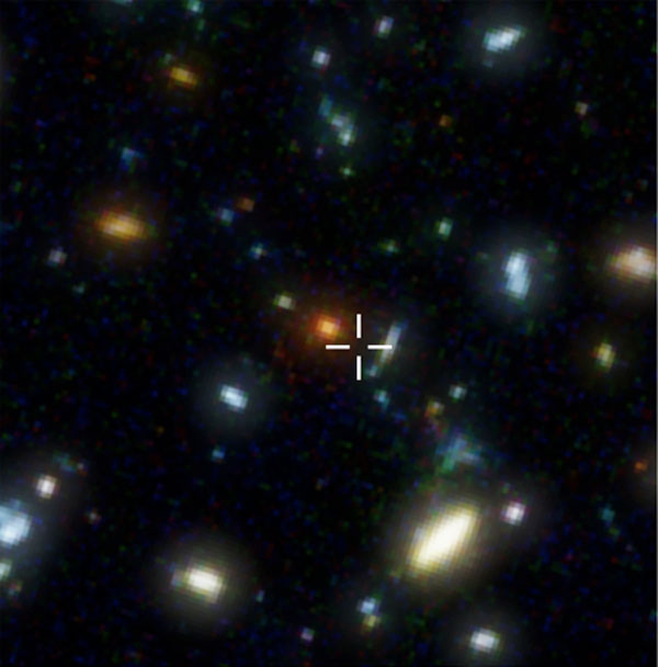 Distant Starburst Galaxy Pinpointed... and it has Companions