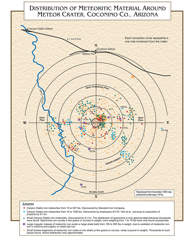 Meteor Crater Arizona Map.Meteor Crater Inside And Out Astronomy Magazine
