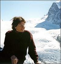 Janet Mattei in the Alps