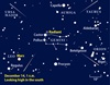 December 2009 meteor shower finder chart