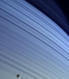 Mimas and Saturn