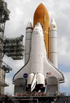 Shuttle Discovery on the pad