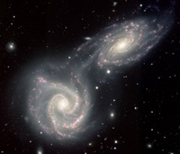 Siamese twin galaxies