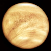 Cloudy face of Venus