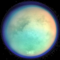 False-color Titan