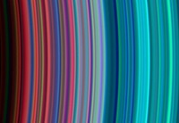 UV close up of Saturn's rings